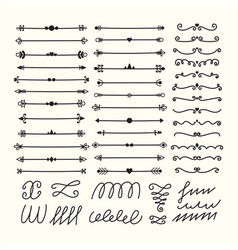 lines borders and dividers hand drawn vector image vector image