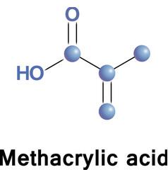 Methacrylic acid monomer vector image vector image