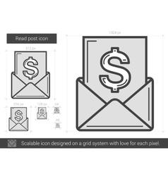 Read post line icon vector image vector image