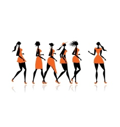 Women party for your design vector image