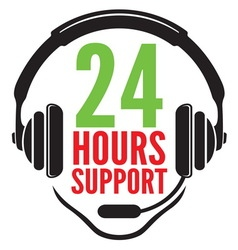 24 hours support1 vector image
