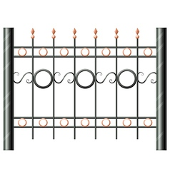 A steel fence vector image