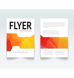 Abstract colorful Triangle Brochure Flyer report vector