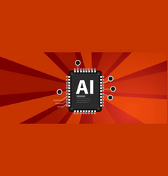 ai artificial intelligence industry revolution vector image