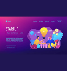 Angel investor concept landing page vector