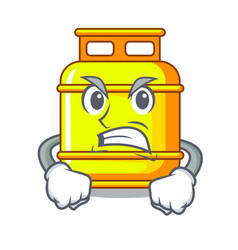 Angry creative in gas cartoon tank container vector