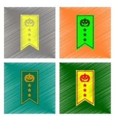 Assembly flat shading style icon halloween garland vector