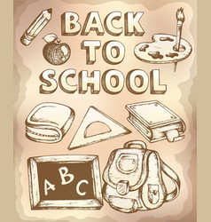 back to school topic 4 vector image