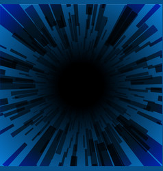 Blue burst ray black hole dark stripe vector