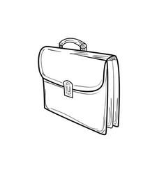 briefcase sketch icon vector image