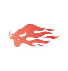 Bull fire logo icon for branding car wrap decal vector