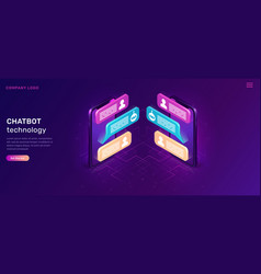 chat bot or mobile chatting isometric concept vector image