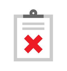 Checklist cancel symbol vector