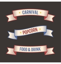 Circus vintage label banner vector image