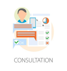Consultation modern devices technology development vector