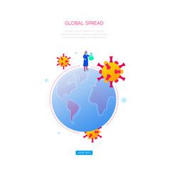 coronavirus global spread - colorful isometric web vector image