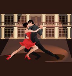 Couple dancing tango vector