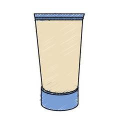 Cream bottle product icon vector