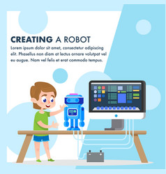 Creating a robot model early student workshop vector