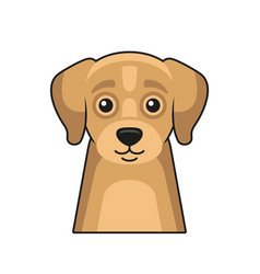 cute dog face icon cartoon style on white vector image