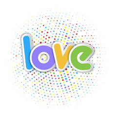 Cute love background vector