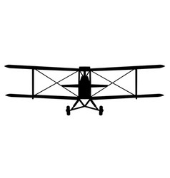 Dh tiger moth front silhouette vector