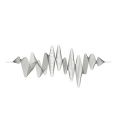 digital sound wave audio digital equalizer vector image vector image