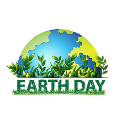 Earth day green background vector