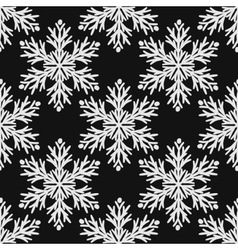 Falling snow seamless pattern White vector