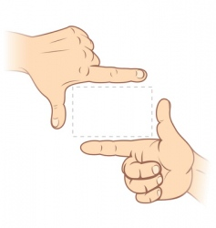 finger frame vector image
