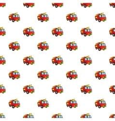 Fire truck pattern cartoon style vector