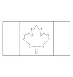 Flag canada 2009 vintage vector