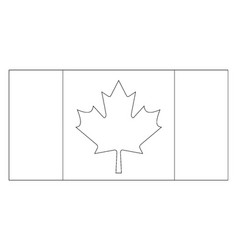 Flag of canada 2009 vintage vector