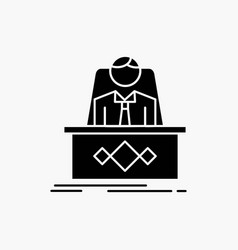 Game boss legend master ceo glyph icon isolated vector