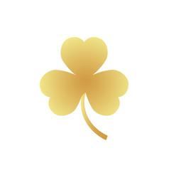 golden clover emblem vector image