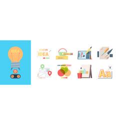 graphic designer tools set adapting and alignment vector image