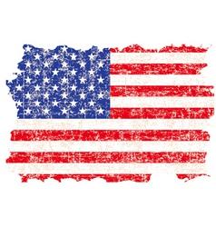 grunge American flag vector image