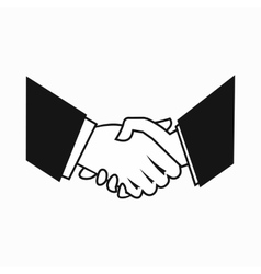 Handshake iconsimple style vector image