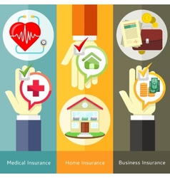 House business medical and health insurance vector image