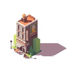 isometric retro restaurant vector image
