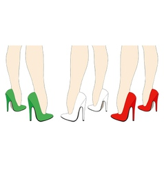 Italian shoes vector image