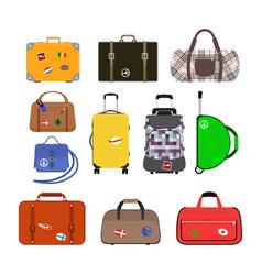 Journey suitcase travel bag vector