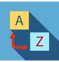 Logo translator icon flat style vector