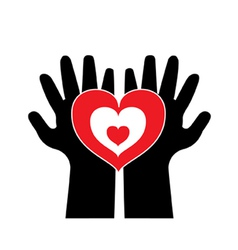 love with both hand vector image