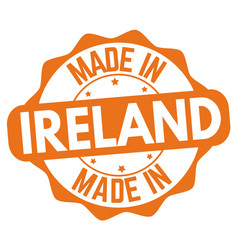 made in ireland sign or stamp vector image