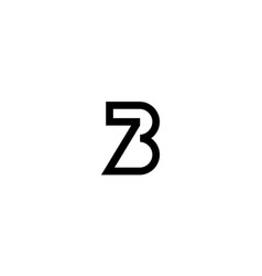 Number 7 and 3 or 7 and b logo design concept vector