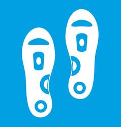 Orthopedic insoles icon white vector