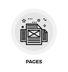 Pages Line Icon vector image