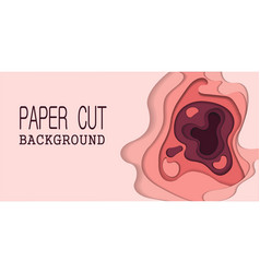 papercut many layers of paper 3d color background vector image