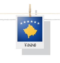 Photo of kosovo flag vector